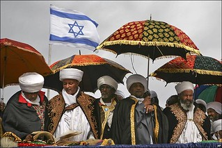 Ethiopian black Jews making aliyah or ascent or going up to the Land of Israel