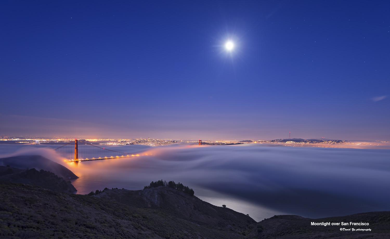 Moonlight over San Francisco