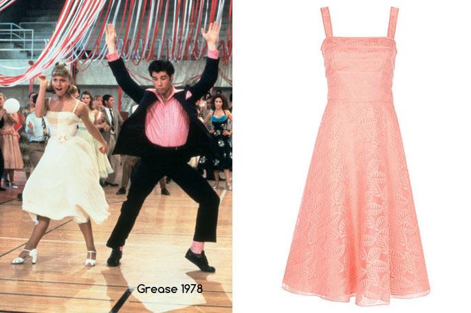 Grease - Jacques Vert Organza Leaf Dress, Orange