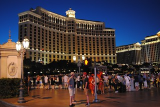 Waiting for the fountains at The Bellagio