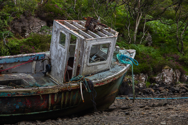 Abandoned Fishing Boat - North Western Scotland