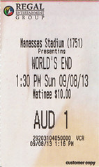 The World's End ticketstub