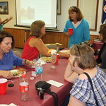 Sat, 08/07/2010 - 13:00 - Nancy Washburn (blue shirt); Judith Vavarapis; Hann Rudstam; Emmalee Pearson Brungraber; Janine Hoegg