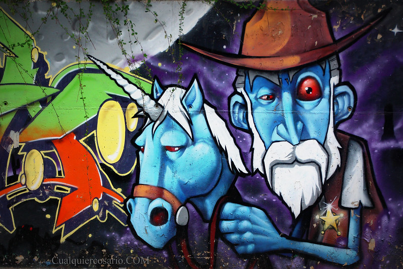 Don Quijote sheriff y el unicornio azul