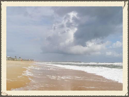 ocean sea white water lines clouds grey mar surf perspective bluesky foam aviary fl flagler 2013 mystuart