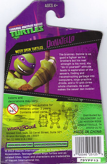 WICKED COOL TOYS :: Nickelodeon TEENAGE MUTANT NINJA TURTLES; 'WATER GROW TURTLES' - DONATELLO iv // ..card backer  (( 2013 ))