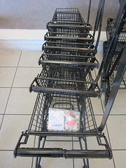 vehicle(0.0), cage(0.0), ladder(0.0), metal(1.0), shopping cart(1.0), cart(1.0),