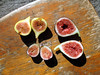 Three Types of Figs - Brown Turkey, Black Mission and Candy Stripe