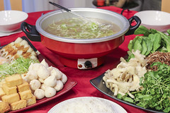 Vietnamese Traditional Food: hot pot with seafood…