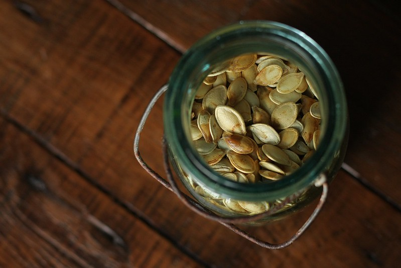 K's homemade pumpkin seeds