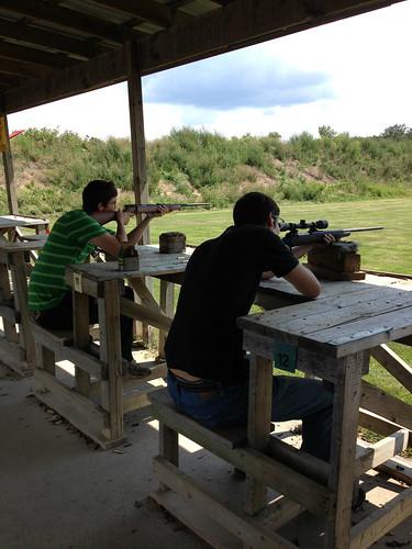 Mike And Dan Target Shooting