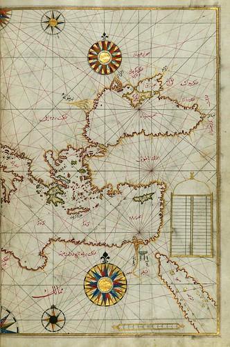 018-Este del Mediterraneo con el Mar Negro-fol 63b-W.658, LIBRO DE NAVEGACIÓN -The Digital Walters