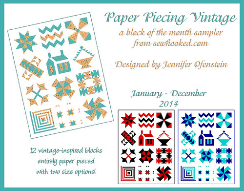 Paper Piecing Vintage - a Block of the Month Sample