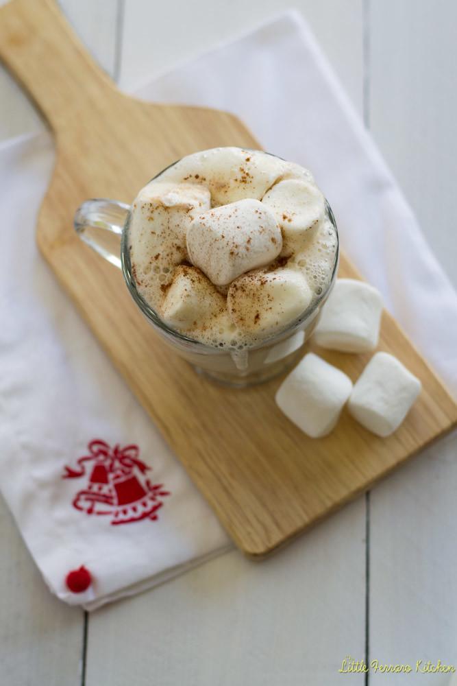 Boozy White Hot Chocolate via LittleFerraroKitchen.com