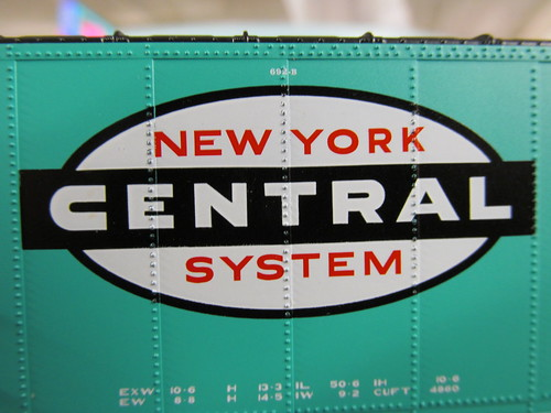 "An extreme close up photo of the New York Central Railroad's late 1950's era ""Cigar Band"" corporate logo. by Eddie from Chicago"