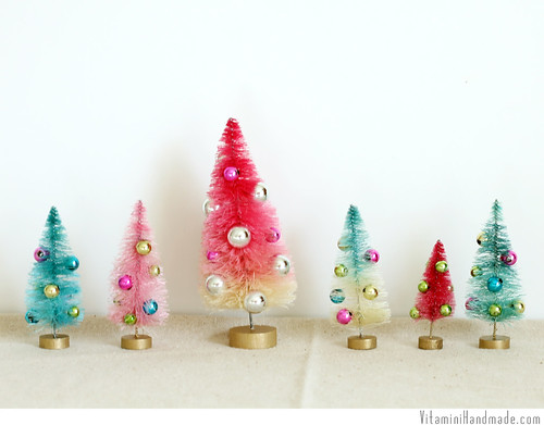 Dip Dyed Bottle Brush Trees