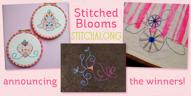 Stitched Blooms stitchalong winners