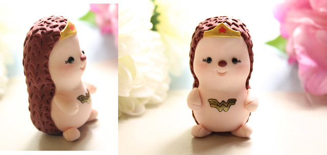 Wonder Woman hedgehog custom figurine