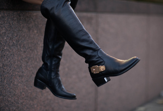 cute & little blog | vince camuto 'bedina' over-the-knee otk black boots outfit | petite fashion
