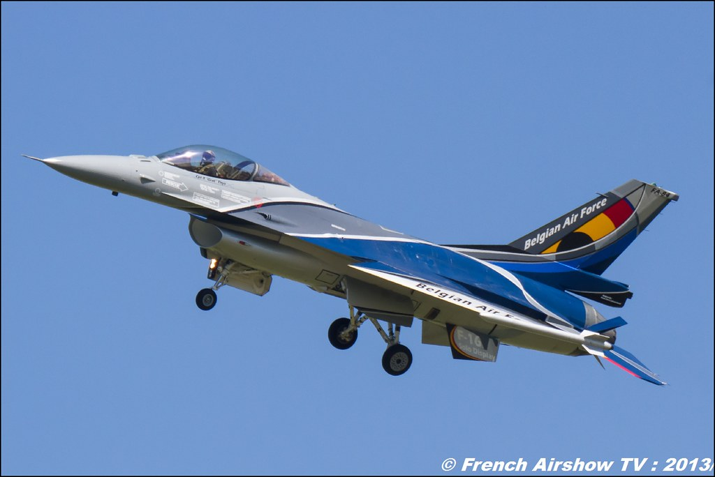 F-16 Solo Display Belge, 60 ans Patrouille de France , Meeting Aerien 2013