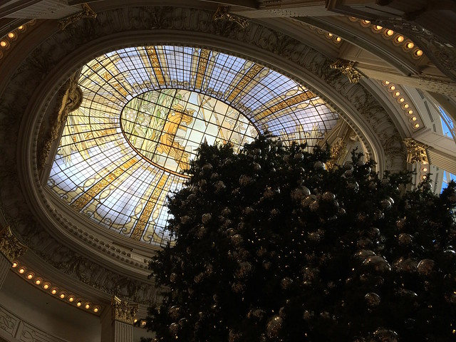 The beautiful glass ceiling at The Rotunda