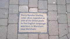 Photo of Percy Bysshe Shelley stone plaque