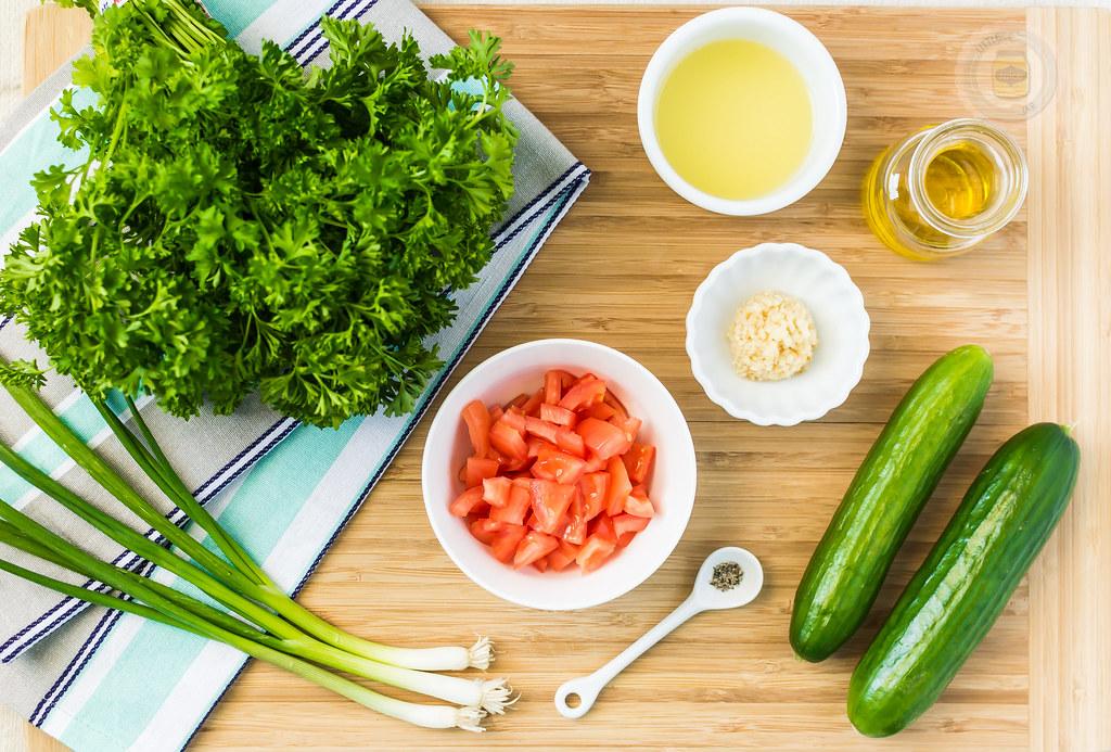Quinoa Tabbouleh Ingredient Spread