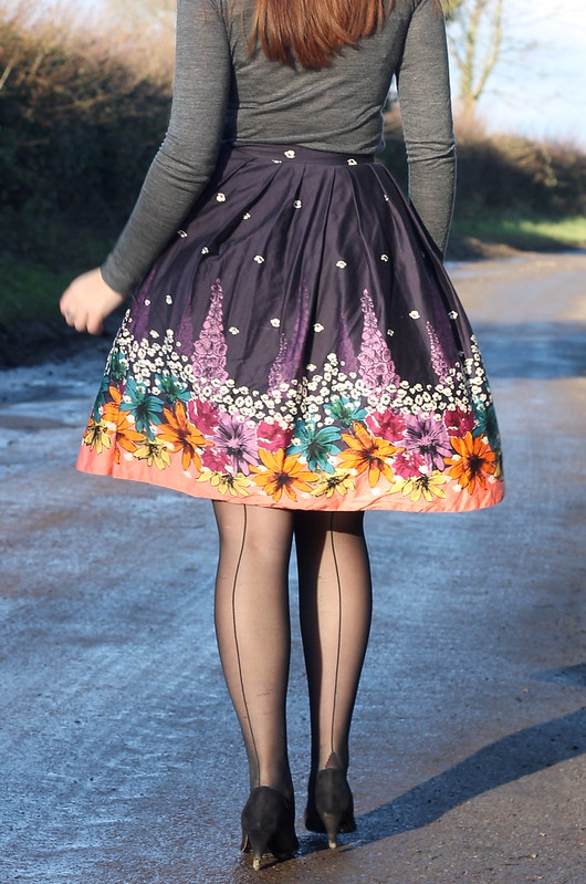 Roll neck, 50s skirt