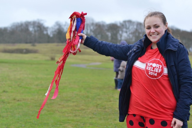 Flying the baton at Badbury Rings
