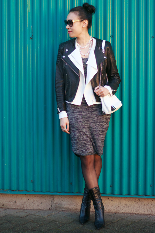 H&M The New Icons leather moto jacket, Babaton Dominic moto jacket, Wilfred Free Yasmin dress, Zara purse, Marc by Marc Jacobs cat-eye sunglasses, HRH Collection Ultra Luxe necklace, Vancouver, fashion, blogger, style, winter, Aritzia