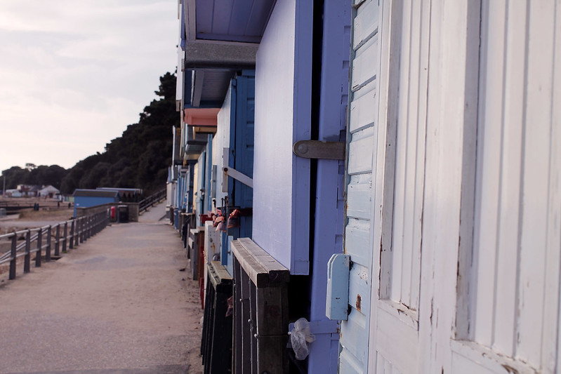 Beach huts at Highcliffe