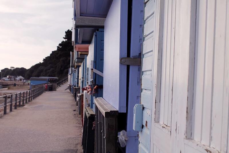 Beach huts at Highcliffe