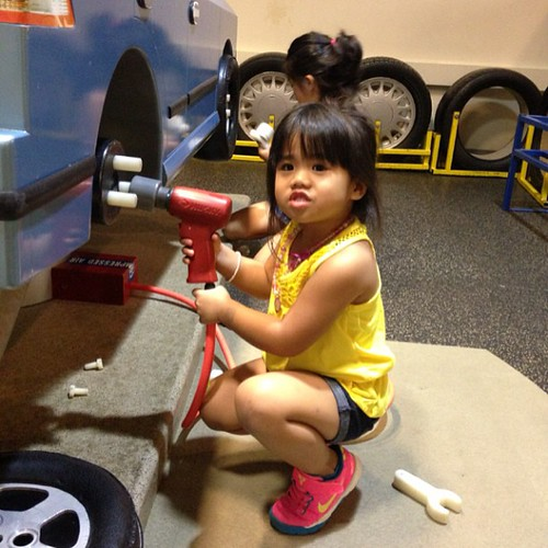 Alyssa enjoying herself at the Discovery center!! -knowledge means nothing if u don't pass it pass it on :)
