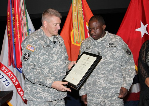 Command Sgt. Maj. Allen's lateral promotion