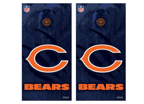 Chicago Bears Cornhole Game Decal Set