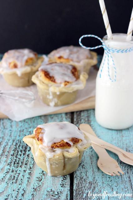 Cinnamon Roll Topped Apple Pies | beyondfrosting.com | #cinnamonroll