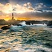 Storm and sunset at the lighthouse [Explore #2] by Richard Larssen