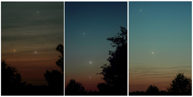 A conjunction collage from an earleir star party by participant Steve Andrews