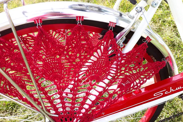 Crochet Bicycle Skirt Guard