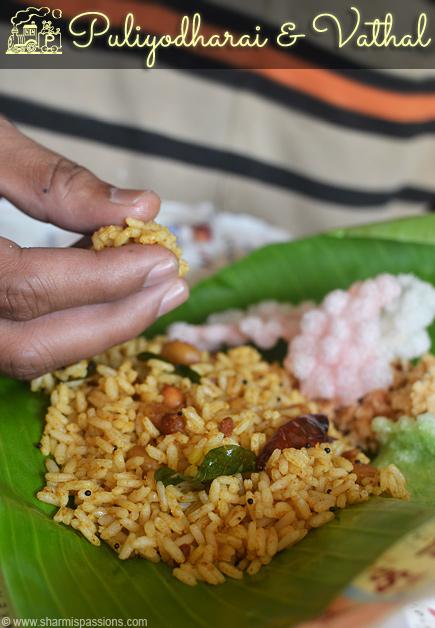 Puliyodharai and Vadam
