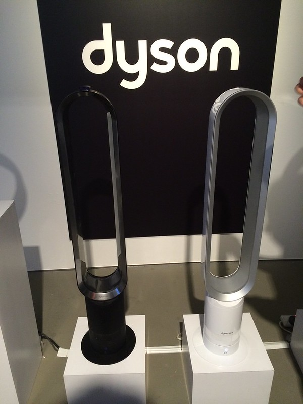 Dyson Cool Fan - AM07 Tower Fan - Left: Black/Nickel - S$799, Right: White/Silver - S$779