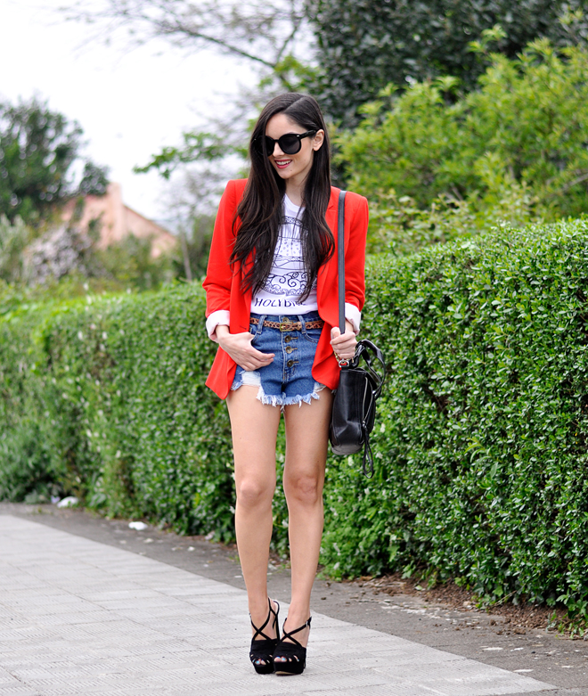 Red Zara Blazer_02