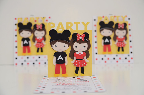 Mickey and Minnie Invitations (8)