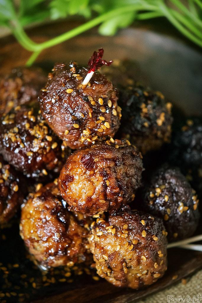Super Easy Slow Cooker Sesame Meatballs