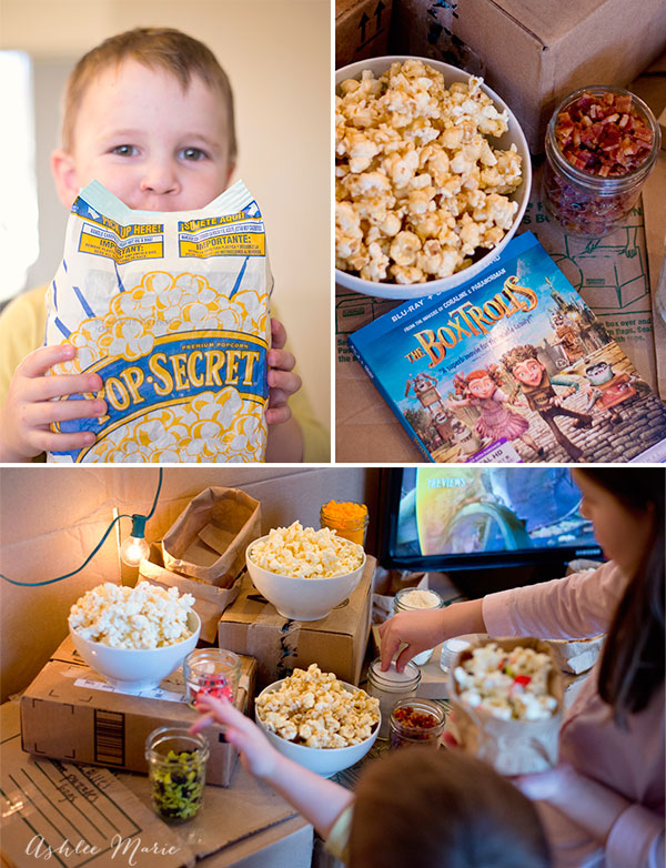 Family movie night and treats with popsecret and The Boxtrolls