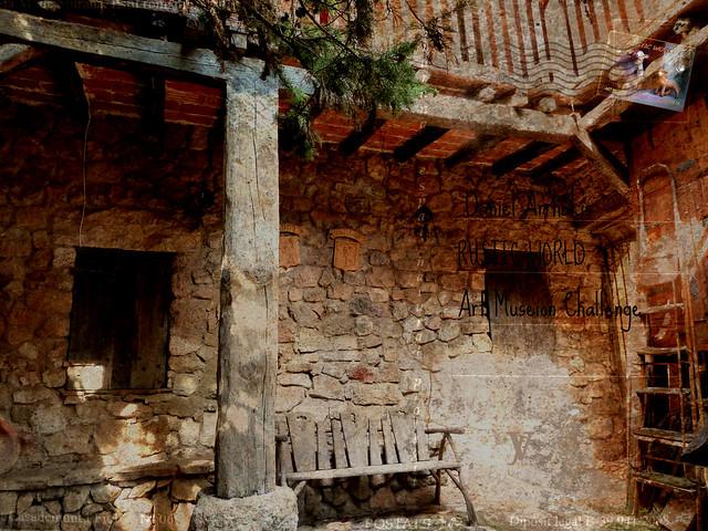 a rustic corner in