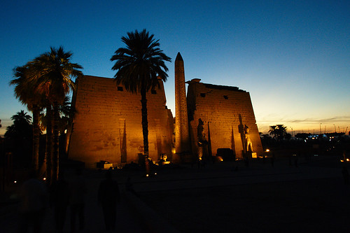 Luxor Temple at Sunset.