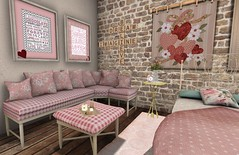 Vintage Romance Bedroom | Second Spaces Rose Sectional