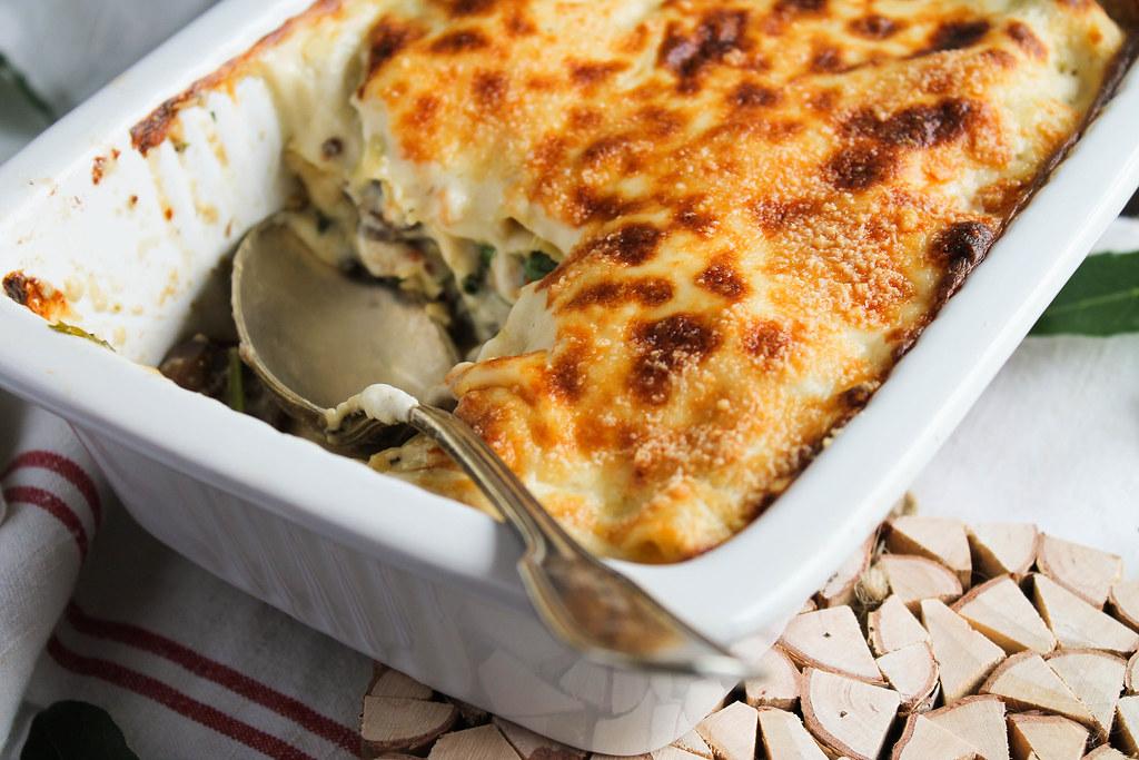 recette de Lasagnes aux champignons