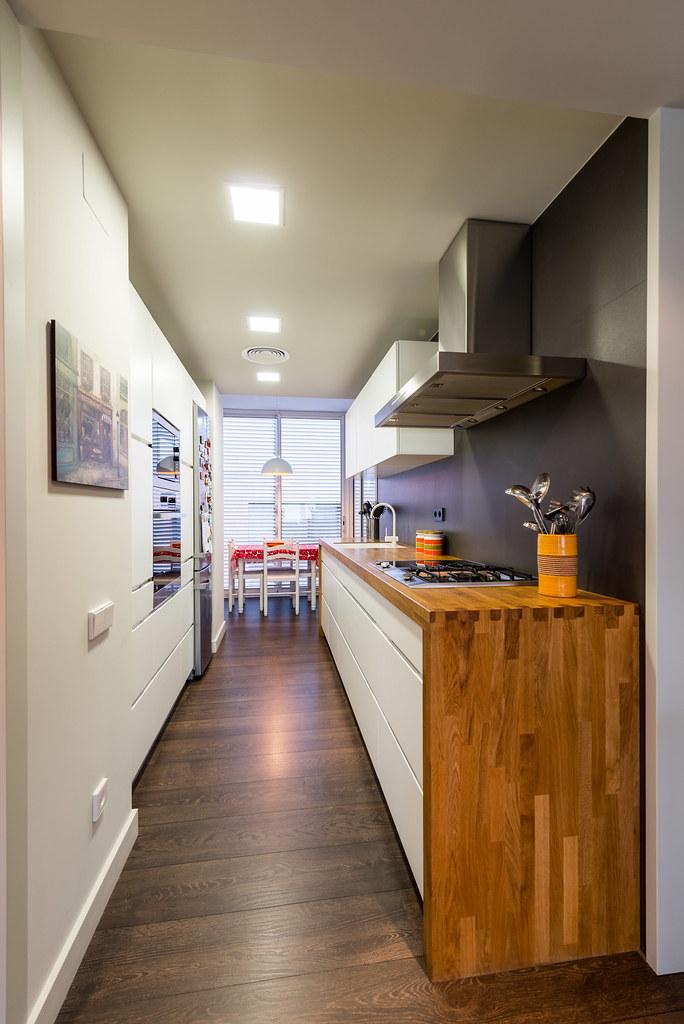 Diseño de cocina. Reforma integral piso Moscou